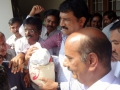 Ganta Srinivasa Rao (Human Resources Development Minister) has participated in rice distribution by UARDT volunteers