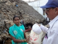 Rice and necessaires distribution to the victims of Cyclone Hudhud at Visakhapatnam