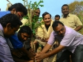 Dr.Umar Alisha, Chairman of UARDT planting the tree at Bheemunipatnam, VisakhaPatnam District