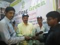 Vishakhapatnam Addl. Joint Collector sri G. Venkata Reddy, distributing SWINE FLU Preventive medicine on 24 Jan 2015 at RK beach