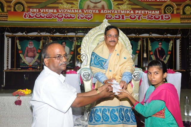 Dr. Umar Alisha, Chairman of UARDT has provided Rs 10,000/- scholarship to a student on the occasion of Guru Pournami
