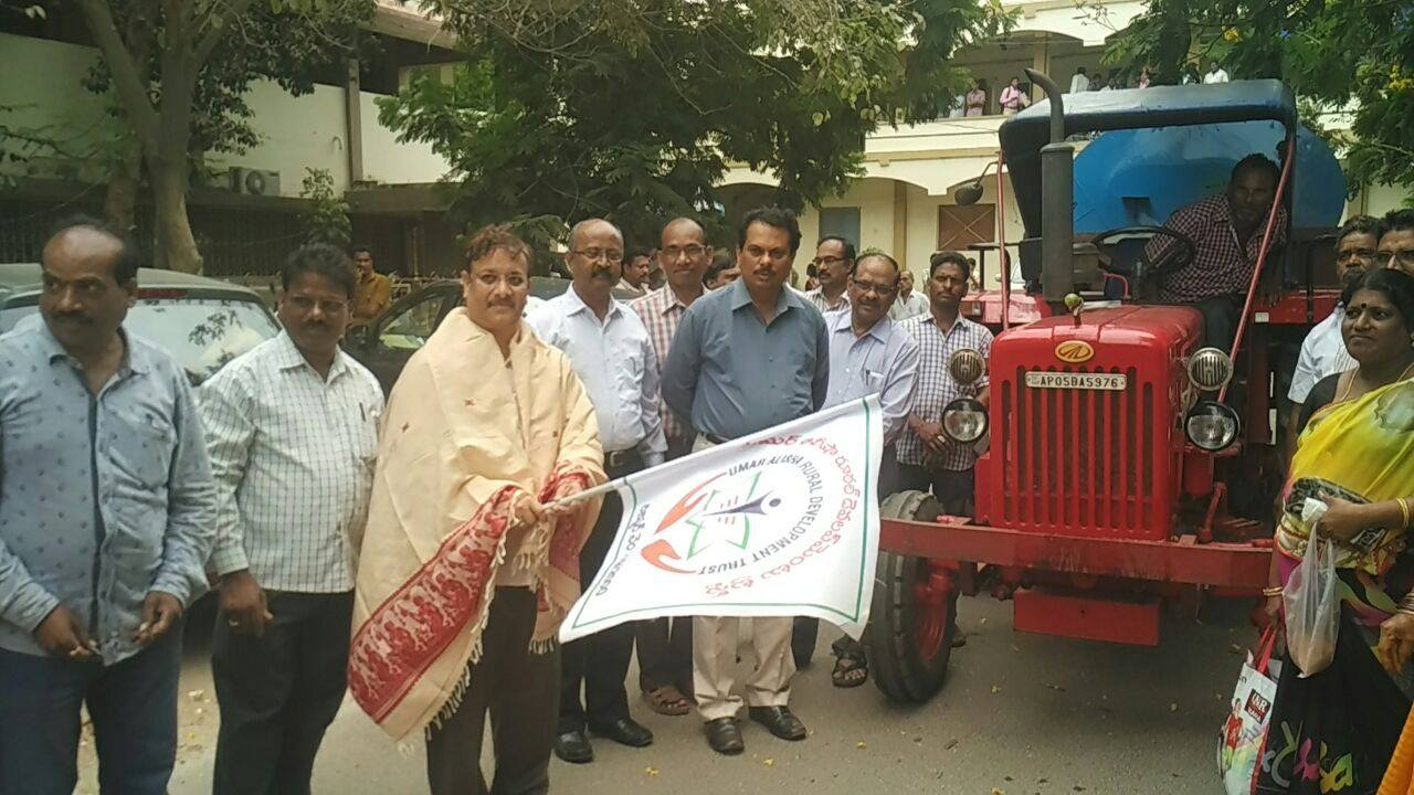 UARDT has donated water tank to Kakinada Municipality