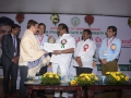 Dr Umar Alisha, Umar Alisha Rural Development Trust, receiving Biodiversity Conserver Award from Shri Sidda Raghava Rao, Hon'ble Minister of Environment, Forests, Science & Technology, Government of Andhra Pradesh