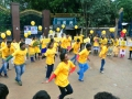 Flash Mob by students in Go Gold India 2016