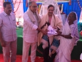 Rice distribution to poor old age people at Disciples attended at Bheemili Ashram on 16th Anniversary Sabha2