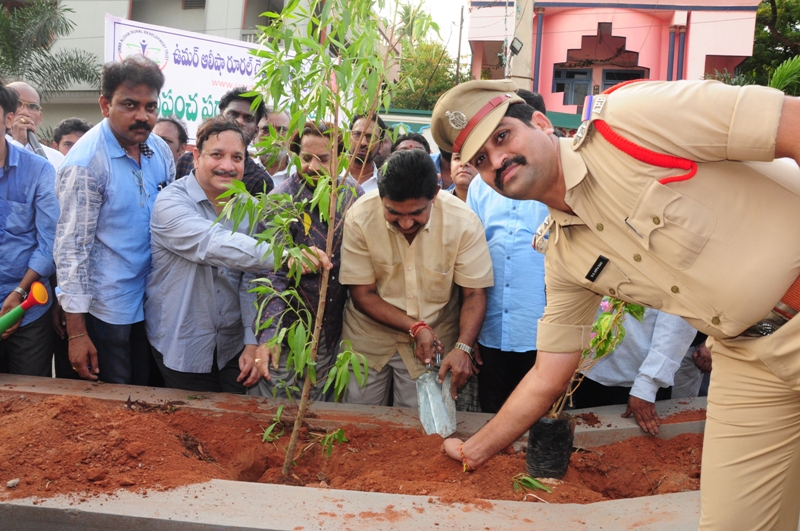 The plant is planted by Suri Apparao (C.I) , Sri Pendem Dorababu (M.L.A) In the presence of Dr.Umar Alisha