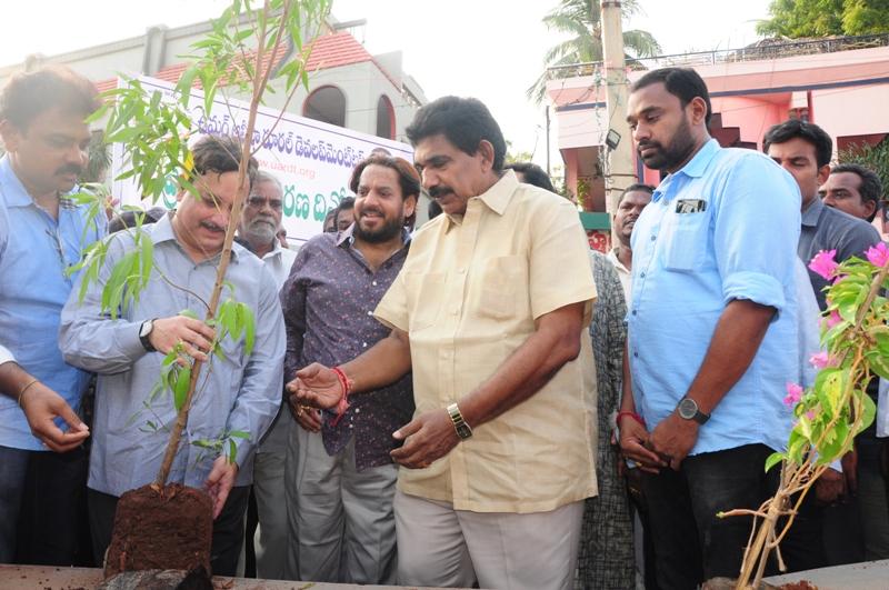 The plant is planting by Dr.Umar Alisha and Sri Pendem Dorababu M.L.A., Pithapuram