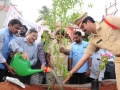 Peethadhipathi Dr.Uma Alisha planting the sapling