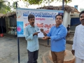 Distribution of Corona virus preventive medicines at Umar Alisha Public school