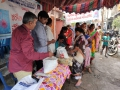 Distribution of Coronavirus preventive homeo medicine at Kobbarithota,Visakhapatnam