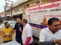 Distribution of coronavirus preventive homeo medicine at Kiran mandi market , Gorakpur