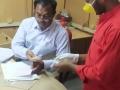 Coronavirus preventive medicine distributed by UARDT at Korukonda Village on 23-March-2020