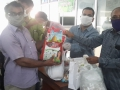 04 Distribution of Rice bag  to press reporters
