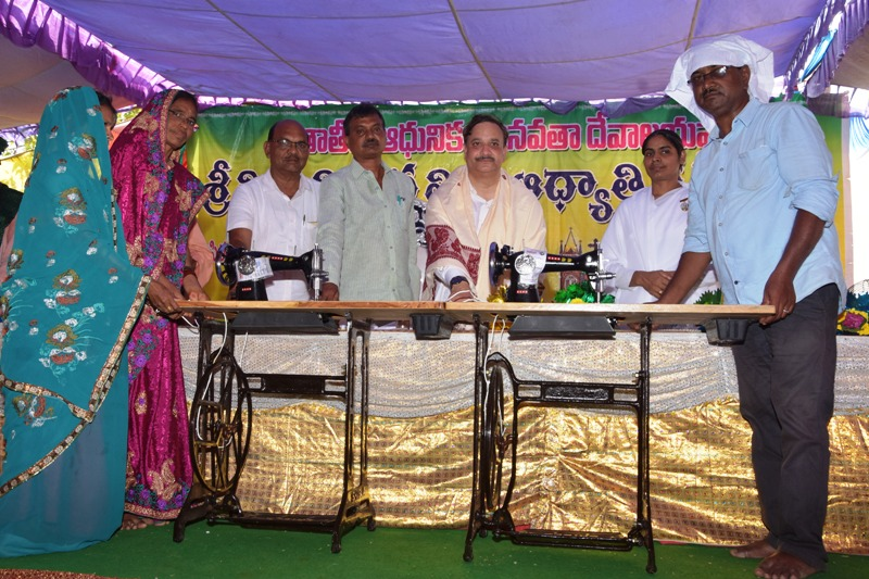 Distribution of sewing machine to needed