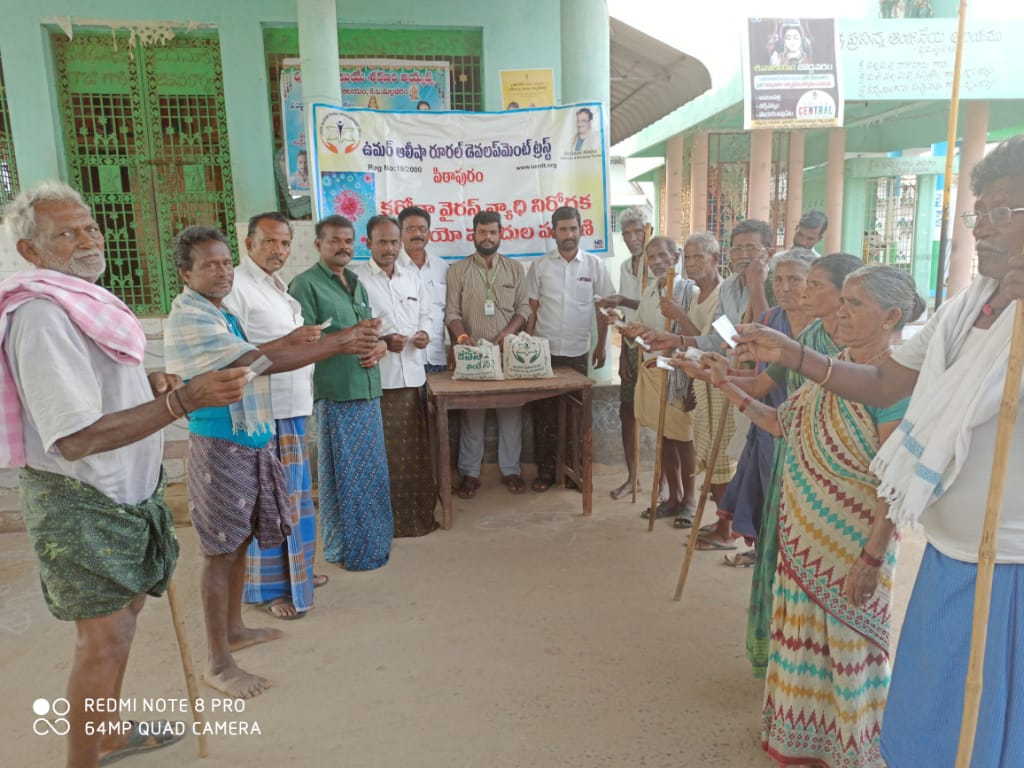 Coronavirus preventive medicine distributed by UARDT at Appalarajupeta Village, Kotananduru mandal, East Godavari District on 23-Feb-2020