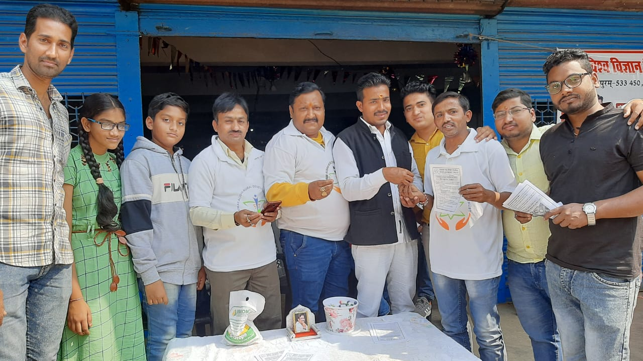 Coronavirus preventive medicine distributed by UARDT at Mirzapur Chowk, Gorakhpur on 01-March-2020