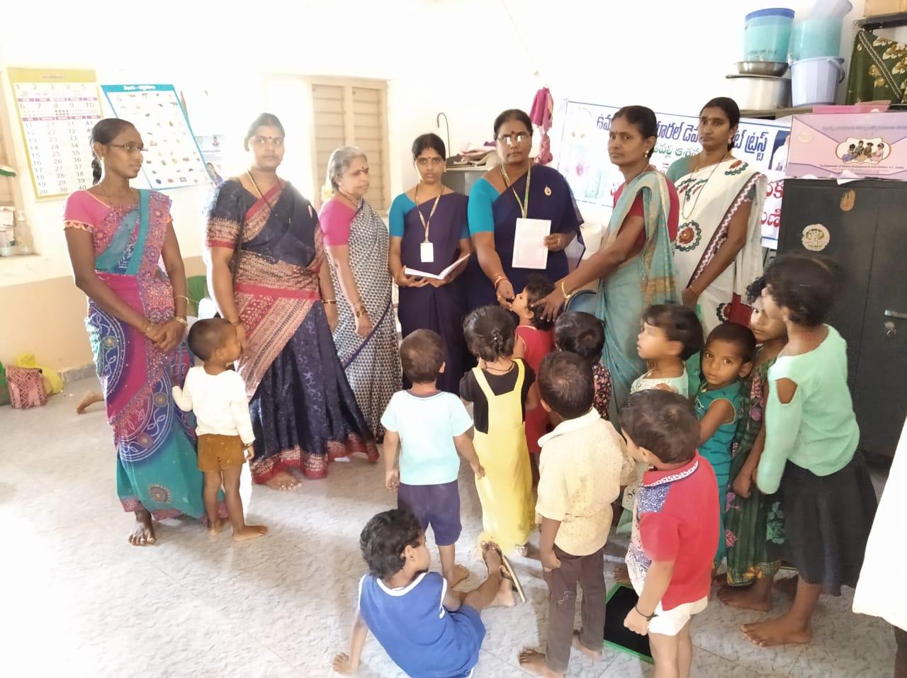 Coronavirus preventive medicine distributed by UARDT to people, students, Teachers at Z.P.High School, Anganwadi Centers, Khandavilli, Varighedu, Annavarappadu, Malleswaram, Kadimpadu Villages on 02-March-2020