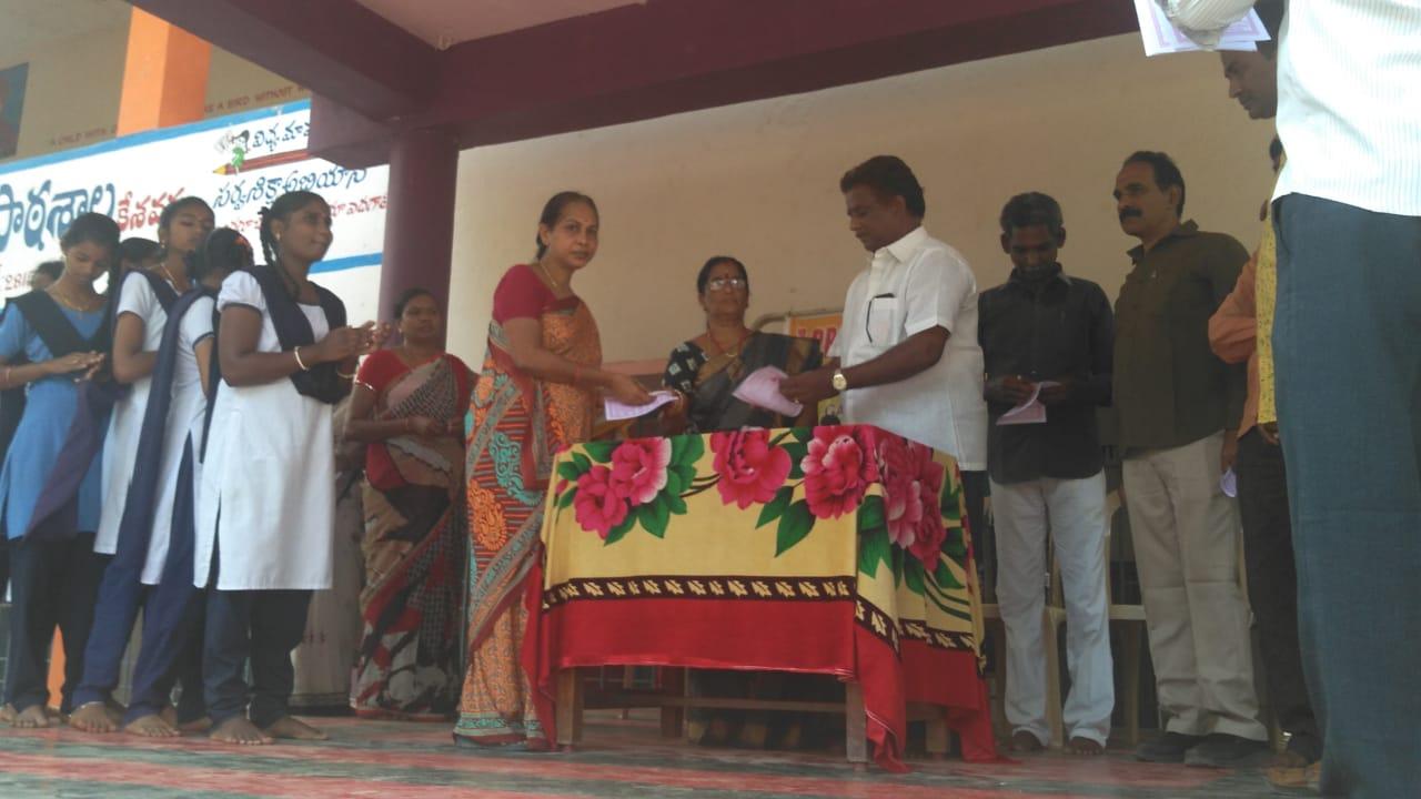 Coronavirus preventive medicine distributed by UARDT at Zilla Parishad High School, Kesavaram Village 09-March-2020