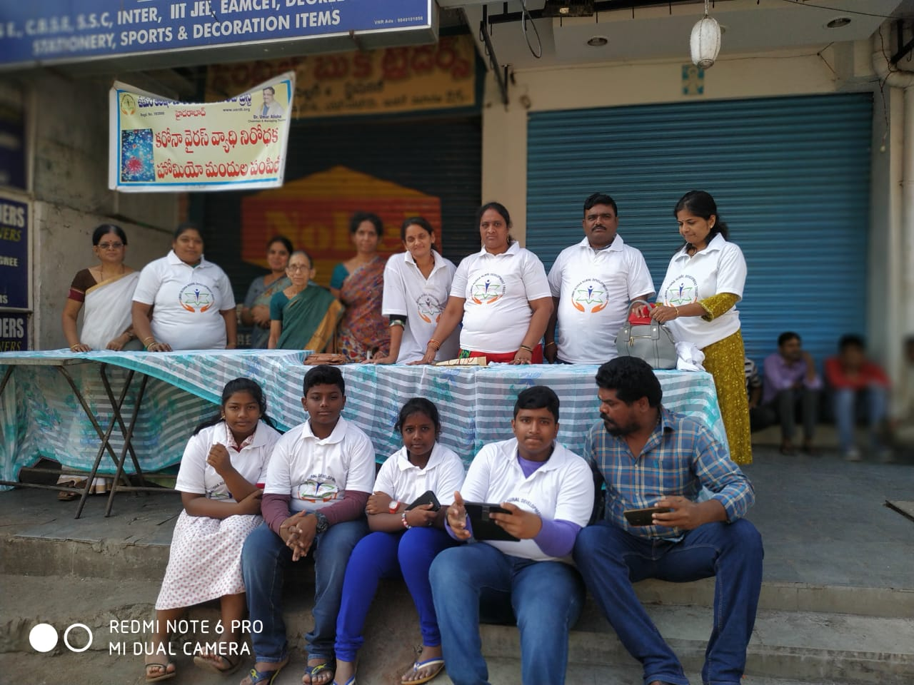 Coronavirus preventive medicine distributed by UARDT at Sri Manga Tiffin Center, Indiranagar, Hyderabad on 15-March-2020