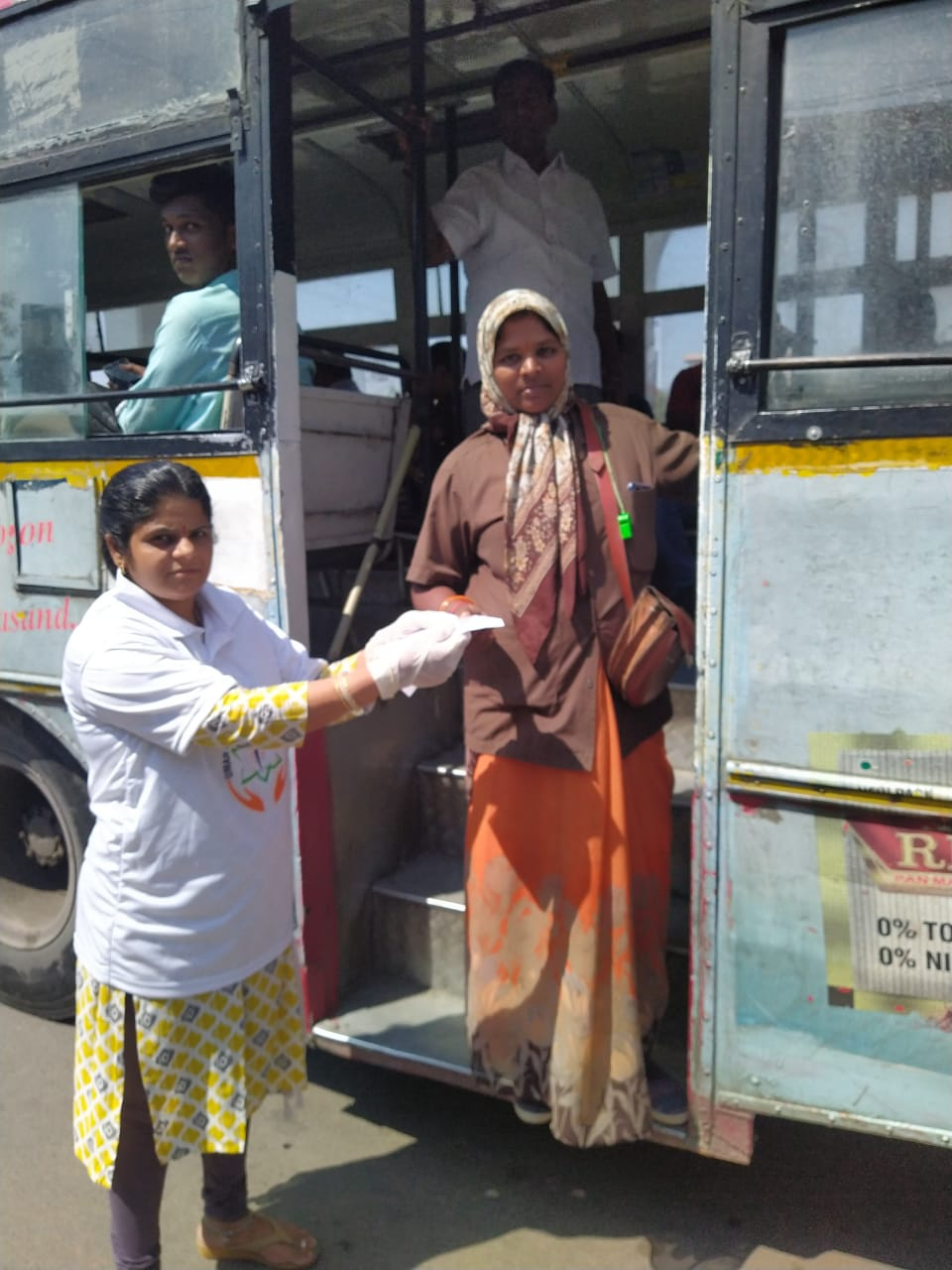Coronavirus preventive medicine distributed by UARDT at Uppal Crossroads, Hyderabad on 15-March-2020