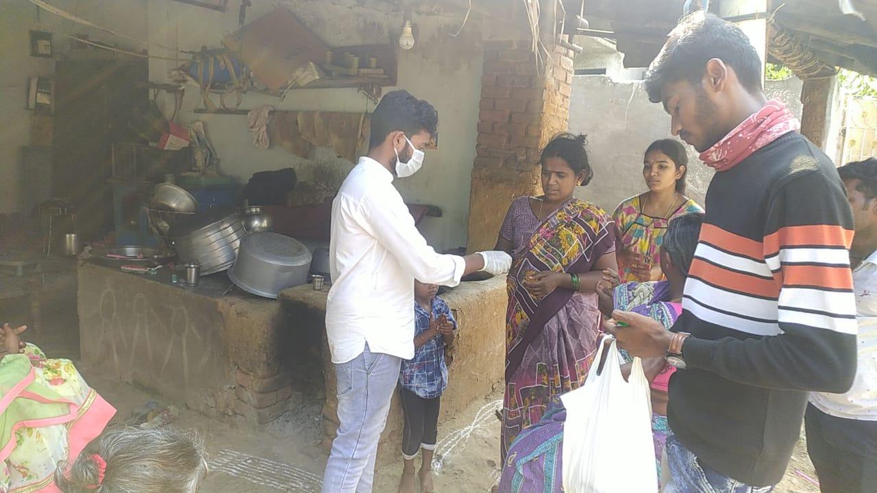 Coronavirus preventive medicine distributed by UARDT at Vuvulapalle Village on 25-March-2020