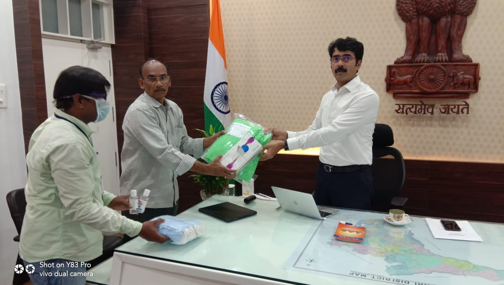 UARDT has donated PPE Kits, Masks, Gloves and Sanitisers to East Godavari District collector