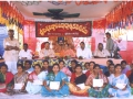 In a Umar Alisha AksharaJyothi Programme held on 11-Nov-2000 at Pedamallapuram of East Godavari District the Chairman UARDT with the women literates, who won their course completion certificates.