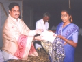 In A Umar Alisha AksharaJyothi Programme held on 30-May-2000 at Raghavapuram village of East Godavari District the Chairman UARDT while distrubuting Ist prize to the confirmed literate of the centre.