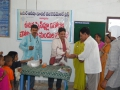 Dr. Umar Alisha, Chairman UARDT, giving Swine Flu preventive medicine  at Pithapuram on 27-Aug-2009