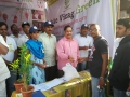 DR Umar Alisha, chairman, Umar Alisha Rural Development Trust distributing free SWINE FLU Preventive Homoeo medicine at VISAKHA UTSAV on 24 Jan 2015 at RK beach