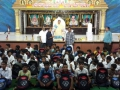 Dr.Umar Alisha, UARDT chairman, distributed school bags to 125 students of R.R.BH.R BC boys hostel pithapuram on the occasion of Guru Pournami at Sri Viswa Vizanan Aadhyatmika Peetham new Ashram Premises