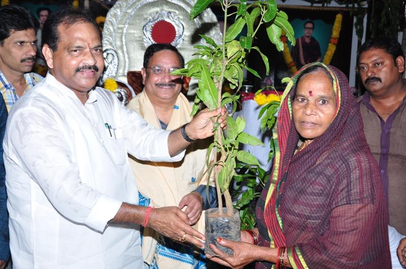 Sri Thota Narasimham.M.P. ( Kakinada) distributing saplings via UARDT