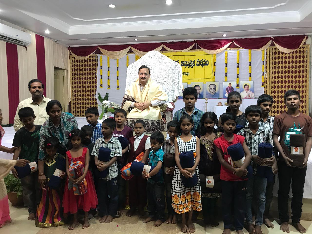 Blankets distribution to blind children in Karthikamasam  , Hyderabad tour