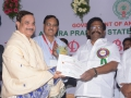 Dr Umar Alisha, Umar Alisha Rural Development Trust, receiving Biodiversity Conserver Award from Shri Sidda Raghava Rao, Hon'ble Minister of Environment, Forests, Science & Technology, Government of Andhra Pradesh