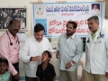 Dr.Umar Alisha (Chairman, UARDT), Dr.Ananda Kumar Pingali ( Secretary UARDT), R.vijay Sekhar (Govt. Hospital Pithapuram) , Ahamed Alisha, Hussain Sha ( Umar Alsiha school  correspondent) , and UARDT volunteers distributing free homoeo pathic Corona virus preventive medicine on 30-Jan-2020