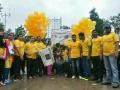 Gold  walk for child cancer awareness -2016 - Sathguru Dr.Umar Alisha flagged off the Rally at Viskhapatnam.