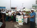 Joint Collector Sri J. Nivas flagging off the rally